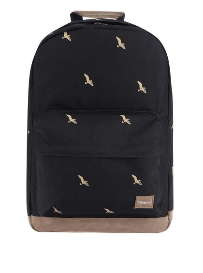 Černý unisex batoh Spiral Bird 18 l