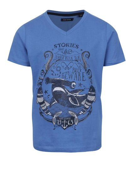 Modré klučičí triko s potiskem Blue Seven