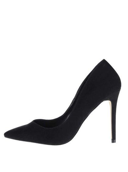 Pantofi negri Miss Selfridge cu aspect de piele întoarsă