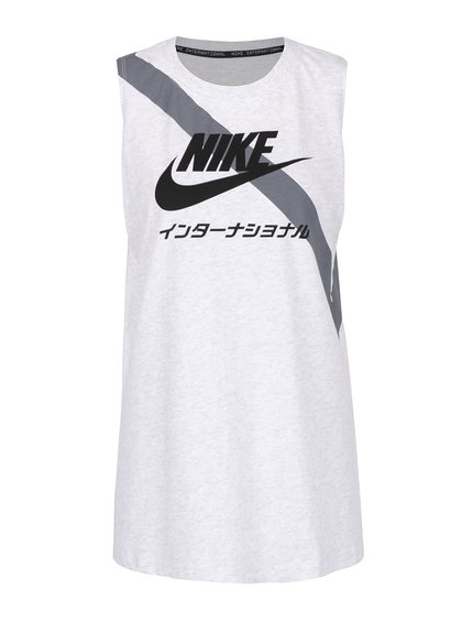 Maiou alb Nike cu print