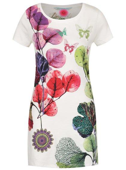Krémové šaty s potiskem  Desigual May