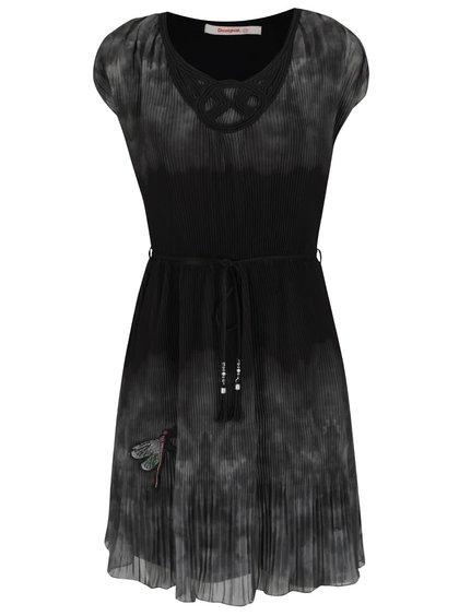Zeleno-černé šaty Desigual Yeie