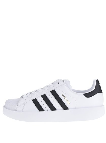Bílé dámské kožené tenisky na platformě adidas Originals Superstar