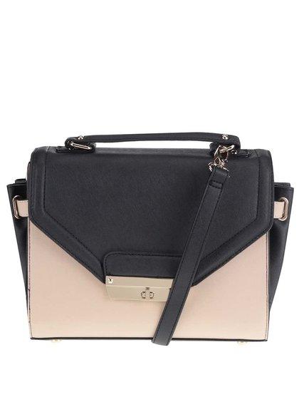 Béžovo-černá menší kabelka se zlatými detaily Dorothy Perkins