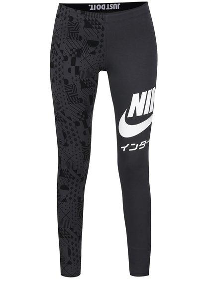 Šedé dámské legíny Nike