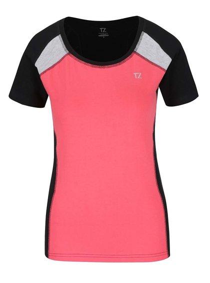 Černo-korálové dámské tričko M&Co