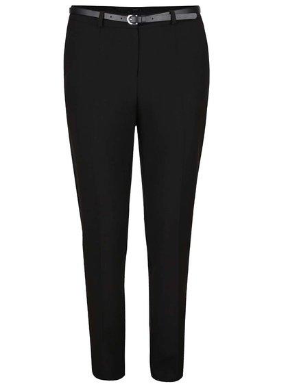 Černé dámské formální kalhoty s páskem M&Co