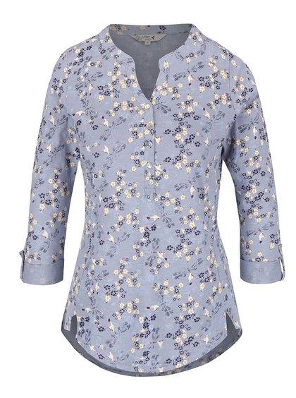 Bluză albastră M&Co din bumbac cu imprimeu floral