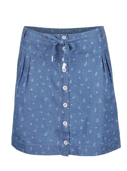 Modrá vzorovaná sukně Ragwear Nina