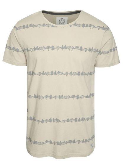 Béžové pánské vzorované triko Ragwear Trick organic