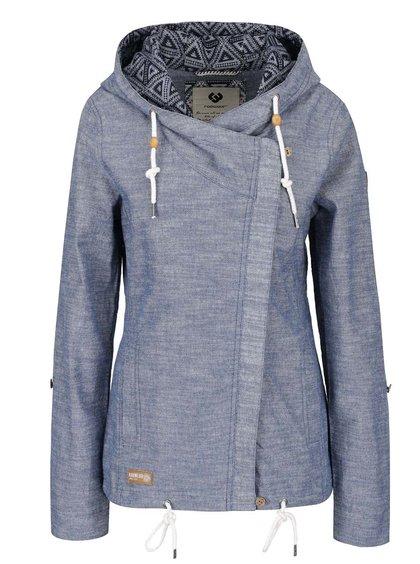 Modrá dámská bunda s kapucí Ragwear Roxana