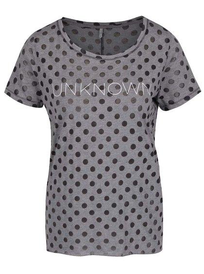 Černo-šedé puntíkované tričko Only MIra