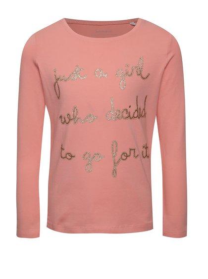 Růžové holčičí tričko s potiskem name it Hiba