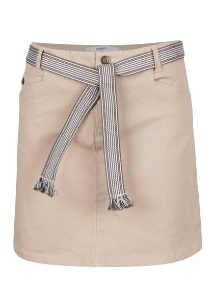Béžová krátká sukně s páskem VERO MODA Shany