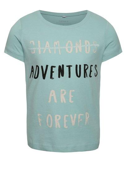 Světle modré holčičí tričko s potiskem name it Veenhaven