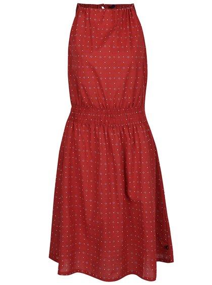 Rochie roșu cărămiziu Tranquillo Irja cu model