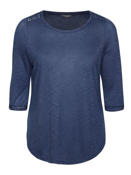 Bluză albastră M&Co cu detalii din dantelă
