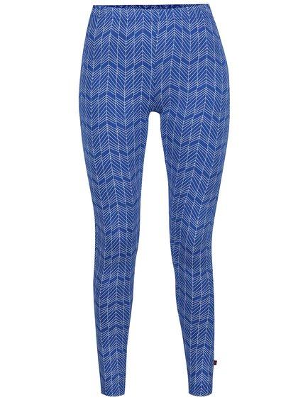Bílo-modré vzorované legíny Tranquillo Sunny