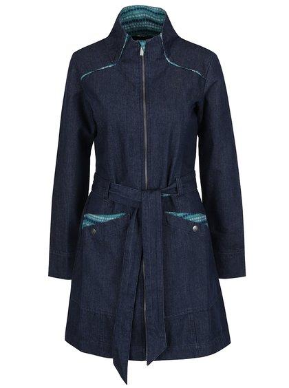Palton albastru închis din denim Tranquillo Lilja cu guler înalt