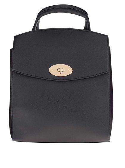 Černý menší koženkový batoh Dorothy Perkins