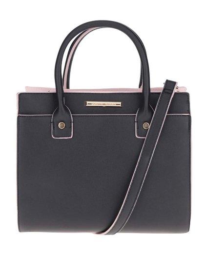 Růžovo-černá kabelka Dorothy Perkins