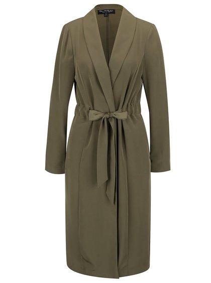 Khaki lehký kabát Miss Selfridge