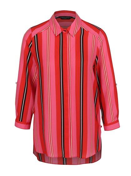 Červená pruhovaná košile Dorothy Perkins