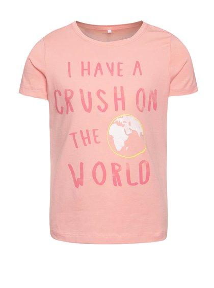 Růžové holčičí tričko s potiskem name it  Vixida