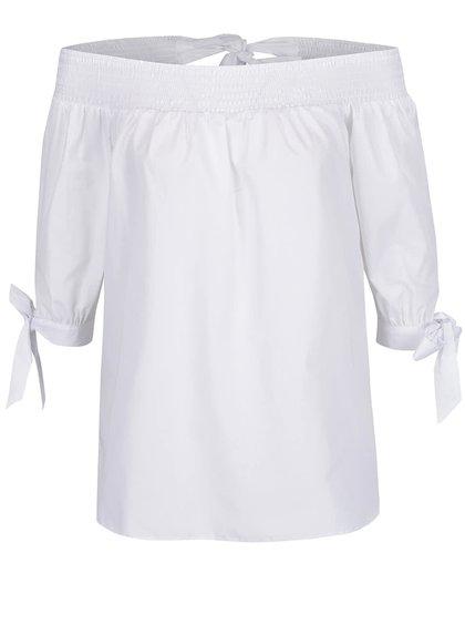 Bílá volná halenka s odhalenými rameny Miss Selfridge