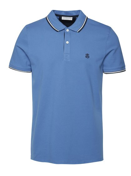 Modré polo triko Selected Homme Season