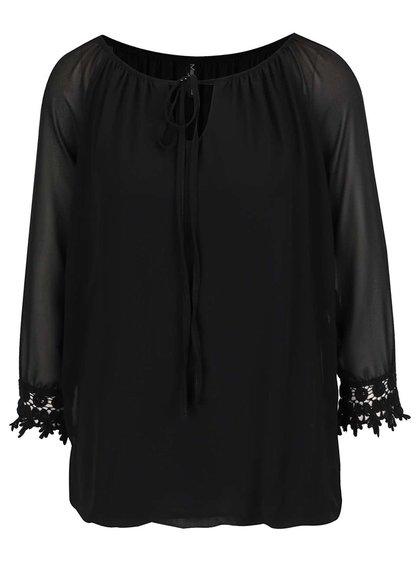 Černá halenka s vázankou Madonna Bine