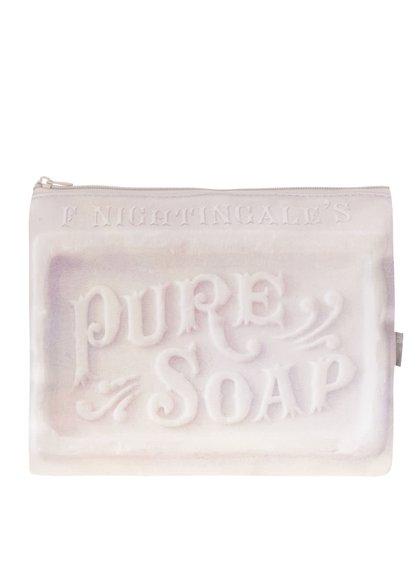 Růžová kosmetická taštička ve tvaru mýdla Disaster