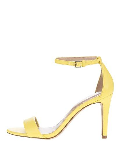 Světle žluté sandálky na jehlovém podpatku ALDO Camy
