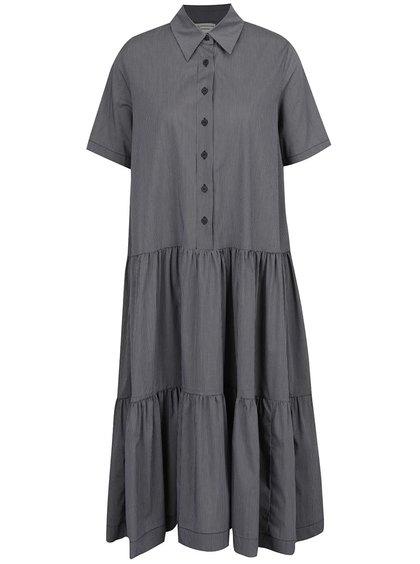 Černo-bílé oversize košilové šaty Silvia Serban
