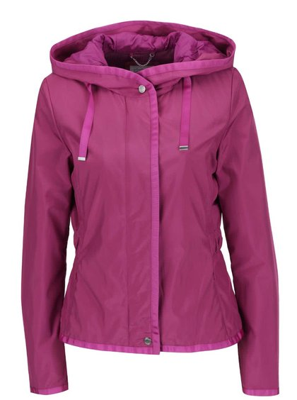 Fialová dámská bunda s kapucí Geox