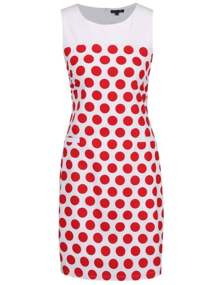 Červeno-bílé puntíkované šaty Smashed Lemon