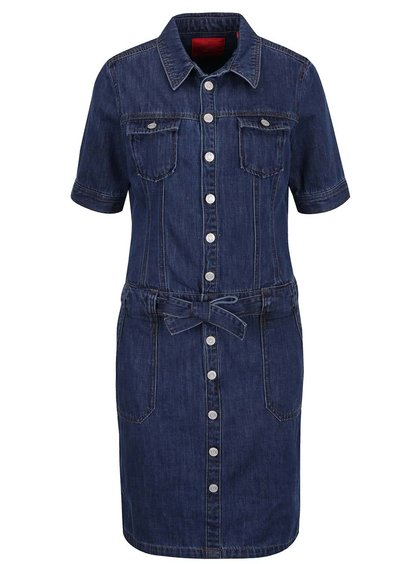Tmavě modré džínové šaty s.Oliver
