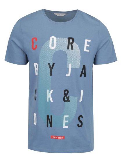 Modré triko s potiskem Jack & Jones