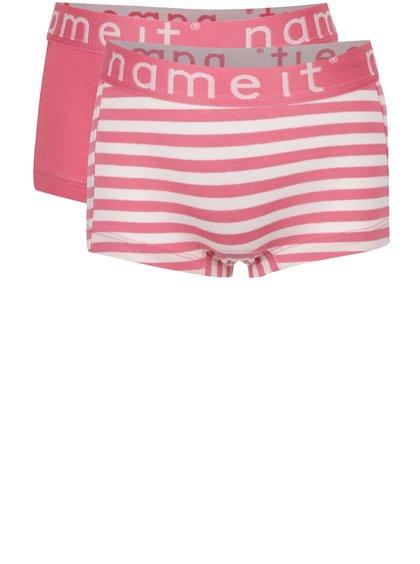 Set de 2 perechi de chiloți roz name it Hipster pentru fete