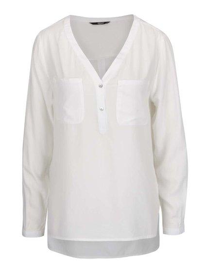 Bluză alb fildeș ONLY Nova cu decolteu în V
