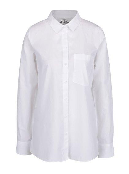 Krémová oversize košile s průstřihem na zádech Cheap Monday