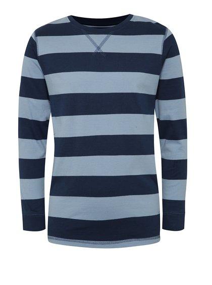 Modré klučičí pruhované triko s dlouhým rukávem 5.10.15.
