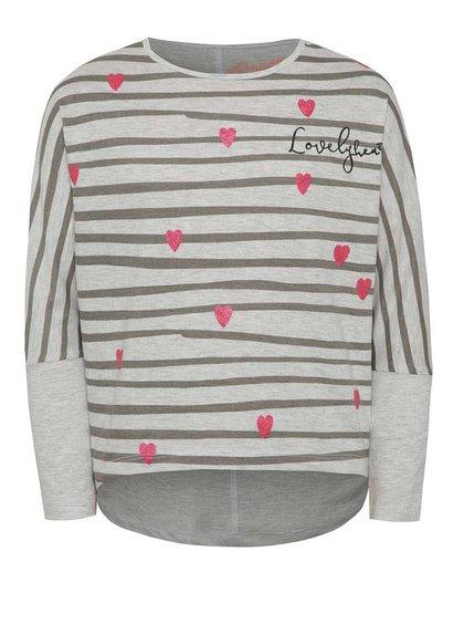 Bluză gri 5.10.15. cu model în dungi pentru fete