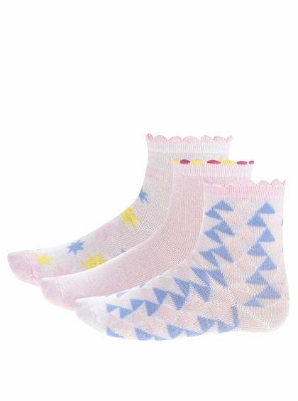Set trei perechi de șosete în nuanțe pastel 5.10.15 pentru fete
