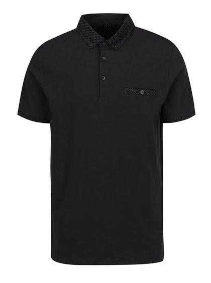 Černé pánské polo triko Burton Menswear London