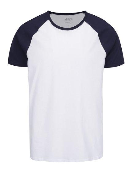 Modro-bílé pánské triko Burton Menswear London