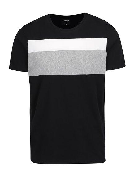 Tricou negru Burton cu dungi late Menswear London