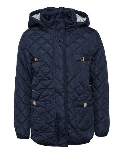 Tmavě modrá holčičí prošívaná bunda s kapucí 5.10.15.
