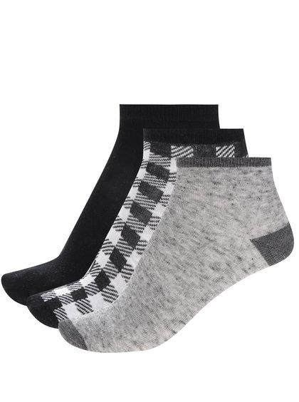 Set trei perechi de șosete alb&negru&gri 5.10.15 pentru băieți