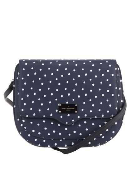 Tmavě modrá puntíkovaná crossbody kabelka Paul's Boutique Stevie